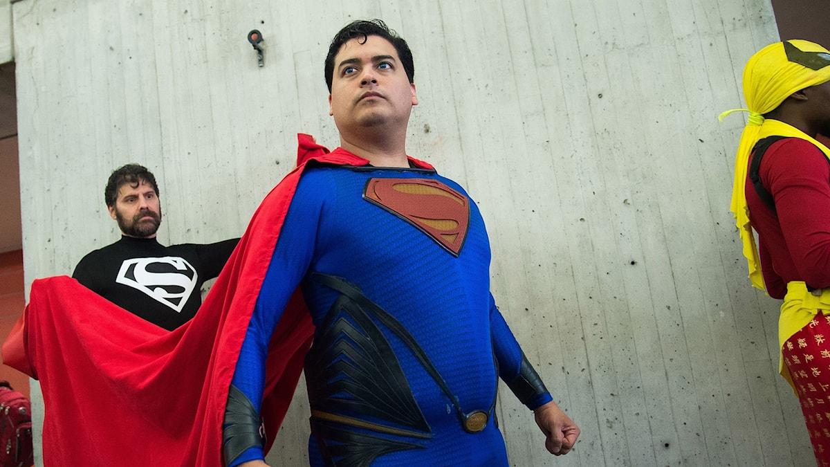 Superman på Comic Con i New York.