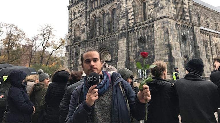 Martin Lagos bevakar påvens besök i Lund