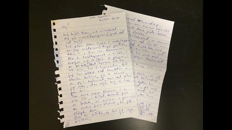 Ett av de många breven Dilan fått.
