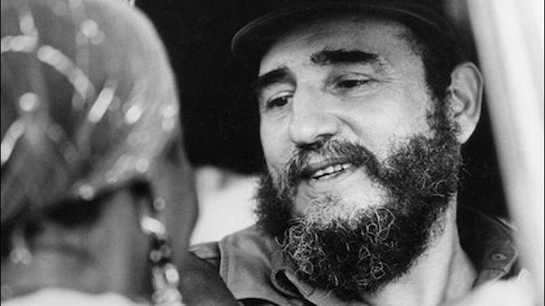 Bild på en ung Fidel Castro