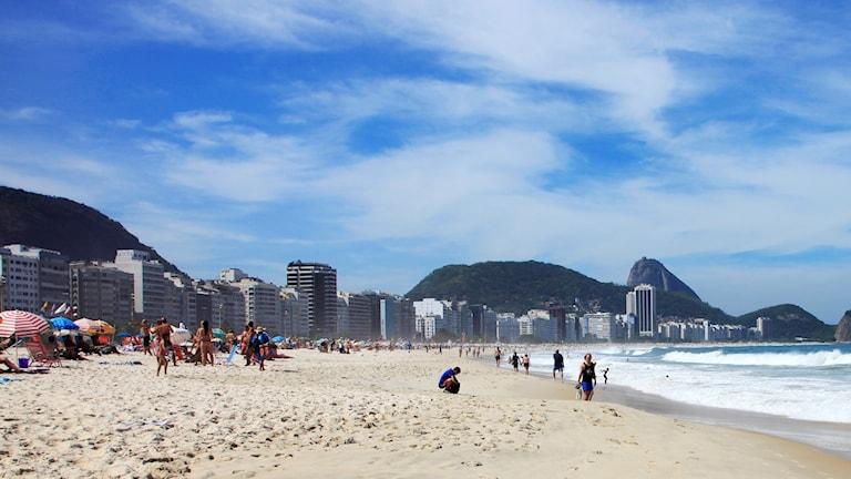 Bild på en strand i Rio de Janeiro