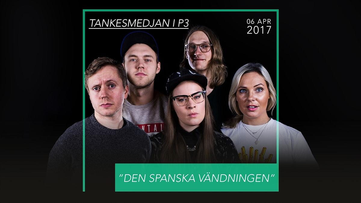 Isak Jansson, Fredrik Söderholm, Marcus Berggren, Elinor Svensson och Johanna Wagrell.