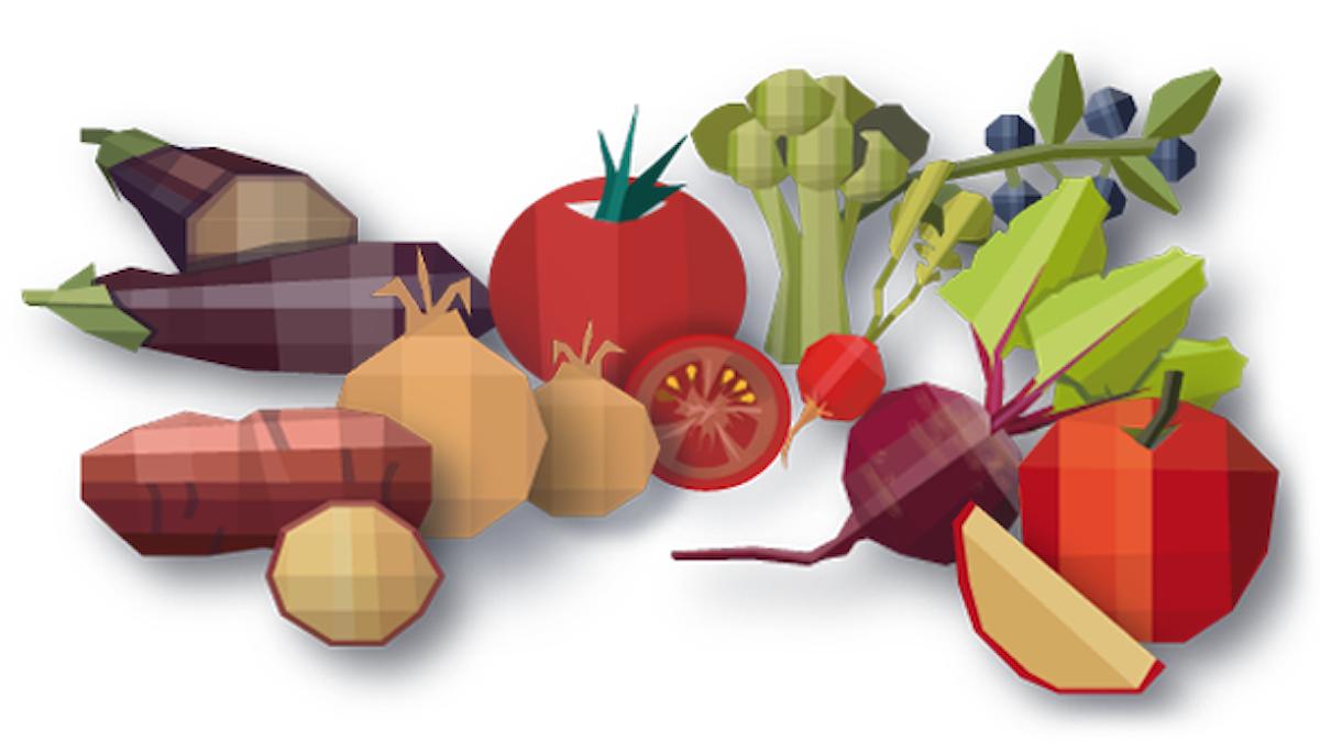 Illustrationer av frukter och grönsaker. Grafik: Susanne Lindeborg/Sveriges Radio.