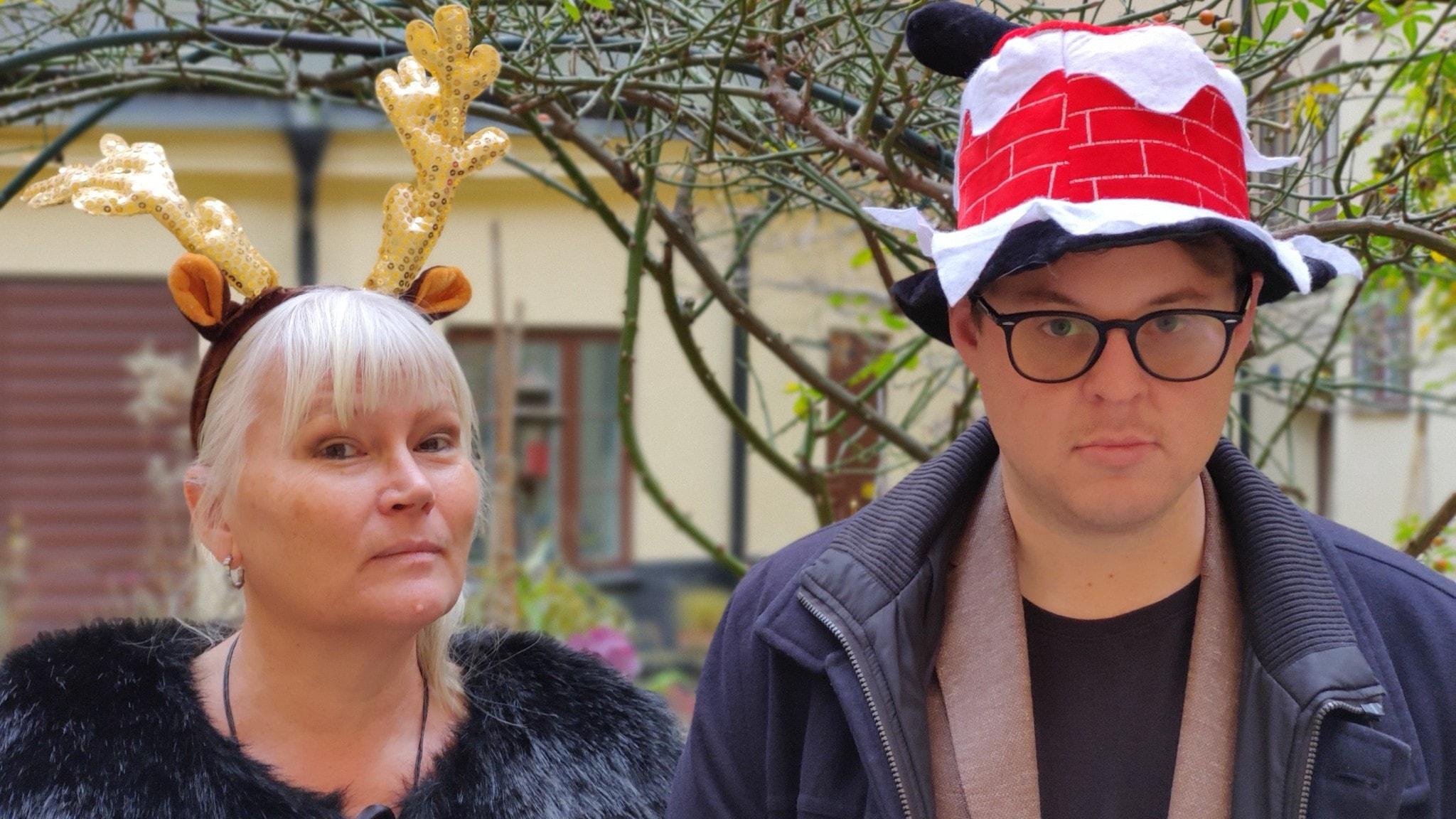 Anna-Lena Lodenius och Fredrik af Trampe i julutstyrsel