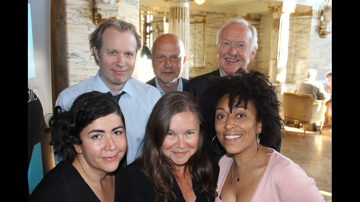 Eirik Stubø, Fransesca Quartey, Farnaz Arbabi, Sven Hugo Persson, Anneli Dufva, Gunnar Bolin. Foto: Anna-Karin Ivarsson/SR.