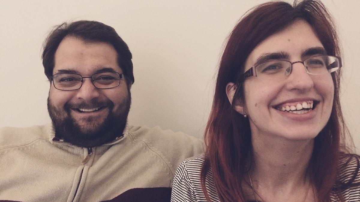 Programledarna Sebastian Pawlowski och Nancy Delic, Mifforadio