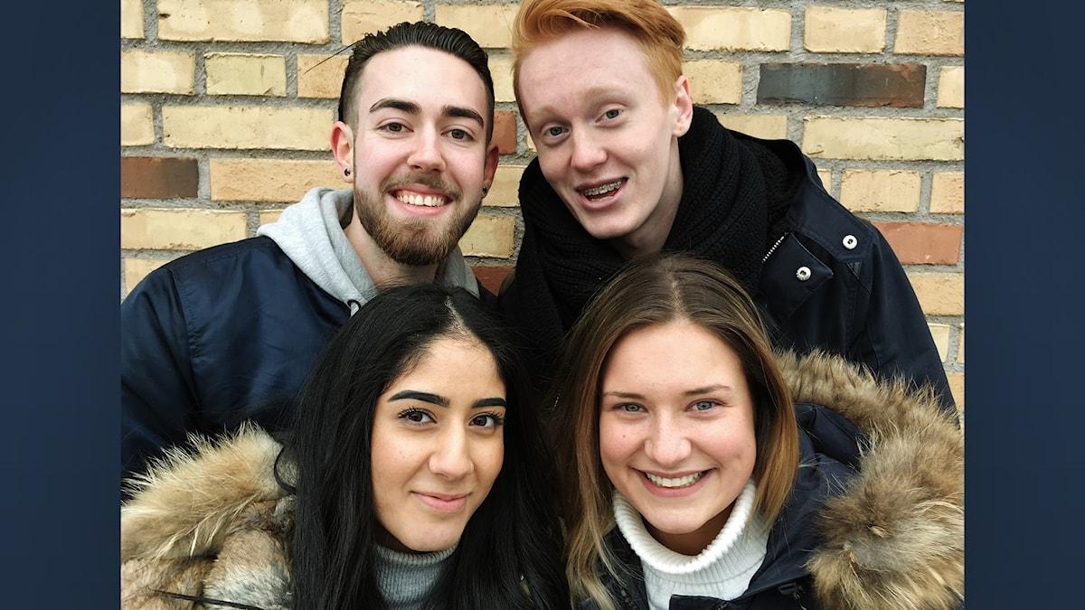 Elina, Victor, Silvia och Bozhidar går sista året på gymnasiet i Mölnlycke