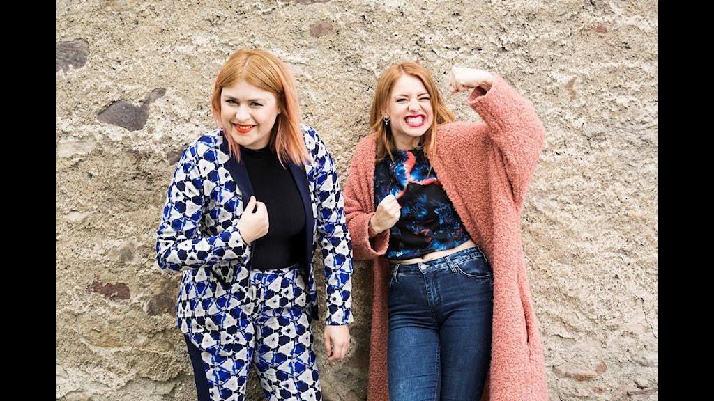 Linnea Henriksson och Clara Henry programleder Hallå P3 i sommar! Foto Sveriges Radio.