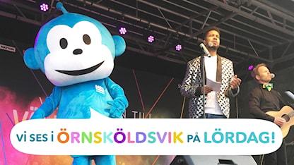 Träffa Radioapan och Yankho i Örnsköldsvik på melloturné! Foto: Kristina Perez