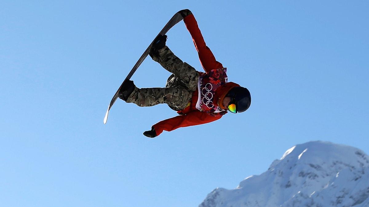 Snowboard i Vinter-OS. Foto: Andy Wong /TT