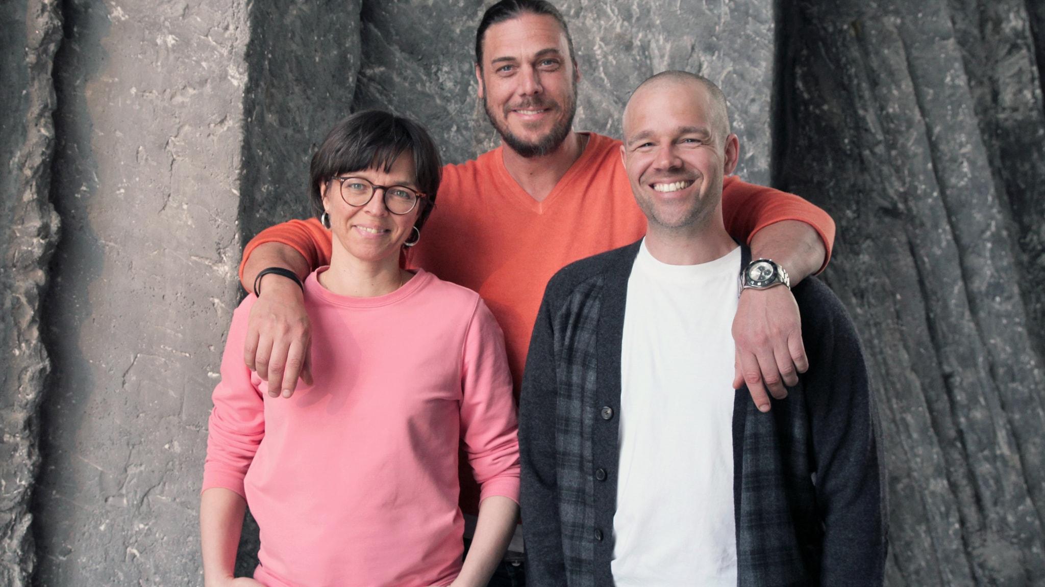 Med Alexander, Rasmus och Cathrin
