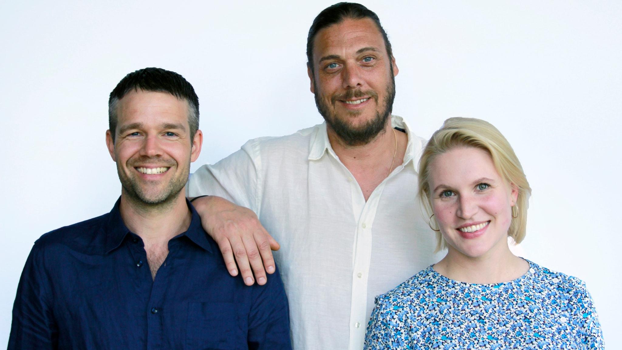 Med Alexander, Julia och Rasmus
