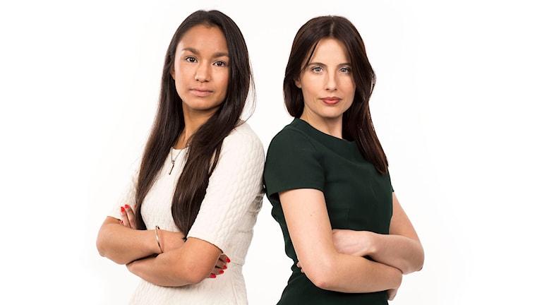 Paloma Vangpreecha och Natalia Kazmierska. Foto: Micke Grönberg/Sveriges Radio