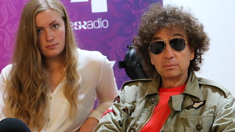 Sara Kinberg och Magnus Uggla. Foto: Ronnie Ritterland / Sveriges Radio