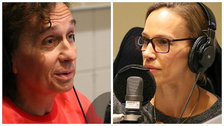Magnus Uggla och Emma Wiklund. Foto: Ronnie Ritterland / Sveriges Radio