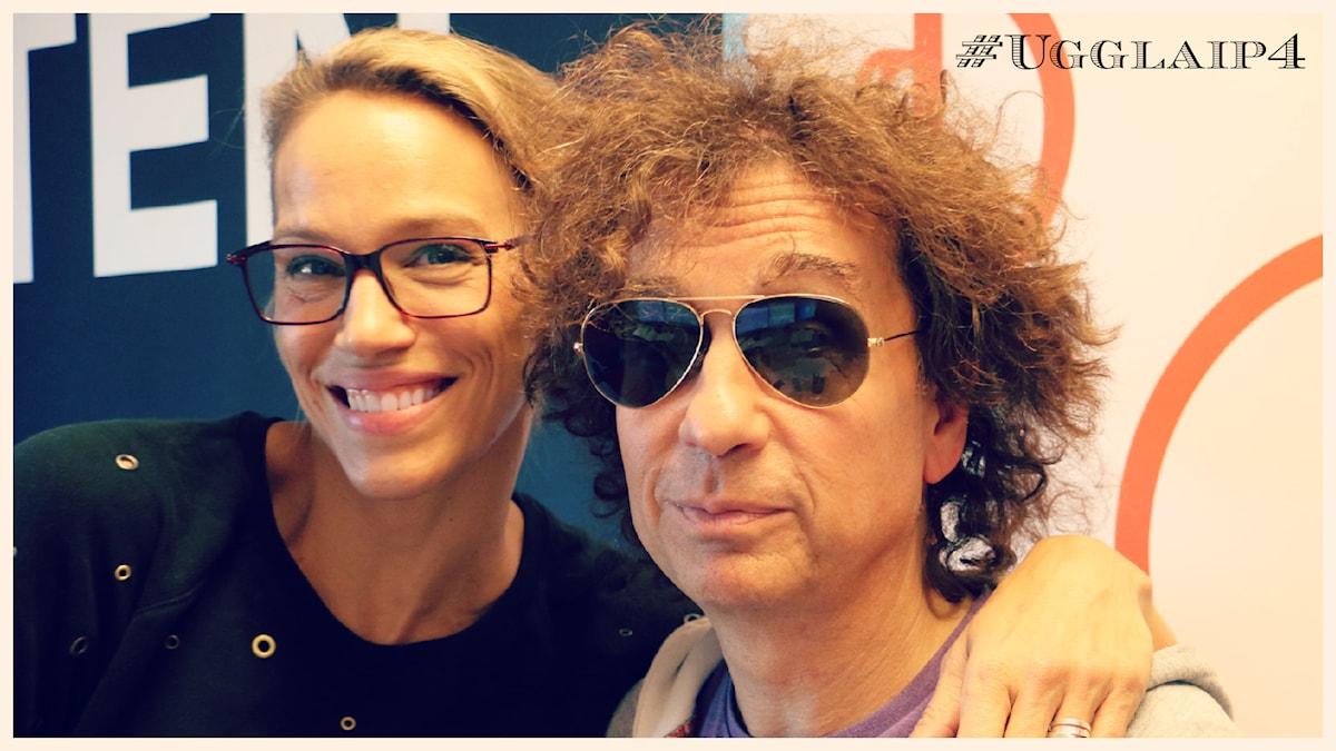 Emma Wiklund och Magnus Ugglas. Foto: Ronnie Ritterland / Sveriges Radio