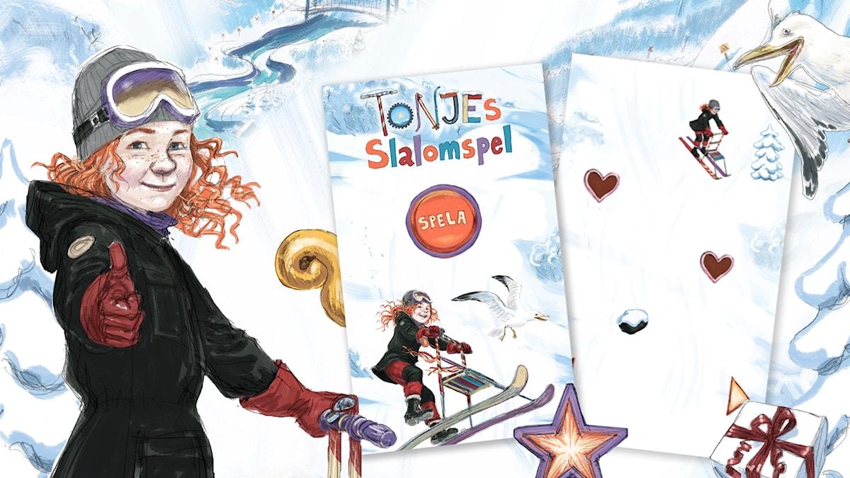 Spela Tonjes slalomspel