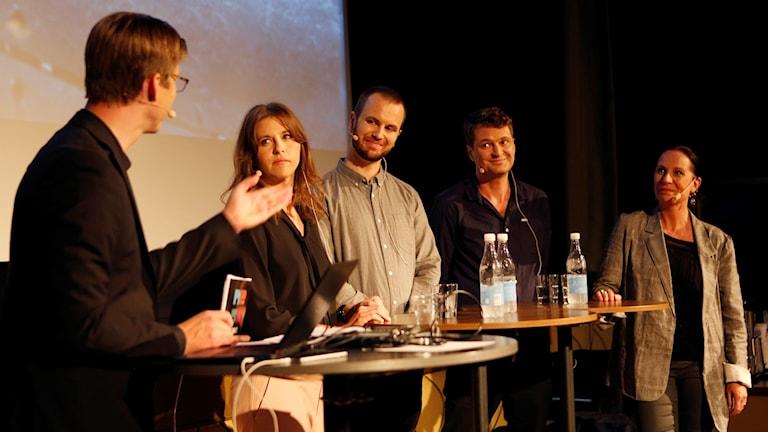 Andreas Lindahl (moderator), Camilla Ziedorn, Markus Alfredsson, Daniel Velasco och Karin Mattisson