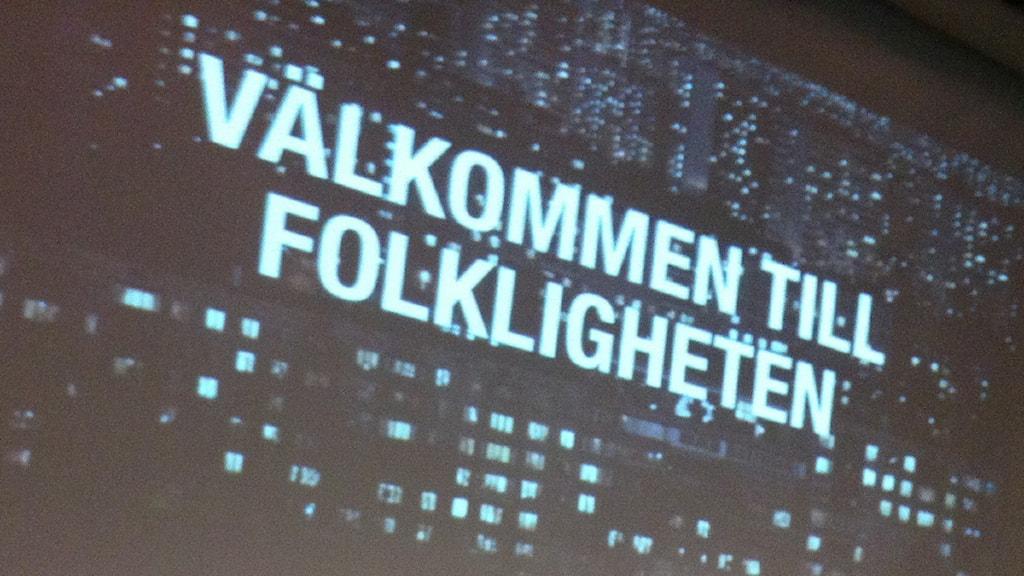 Internetdagarna: Välkommen till folkligheten FOTO: Cecilia Djurberg/SR