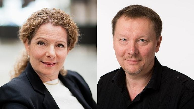 Cilla Benkö, vd för Sveriges Radio och Björn Löfdahl, programdirektör. Foto: Björn Dalin/SR