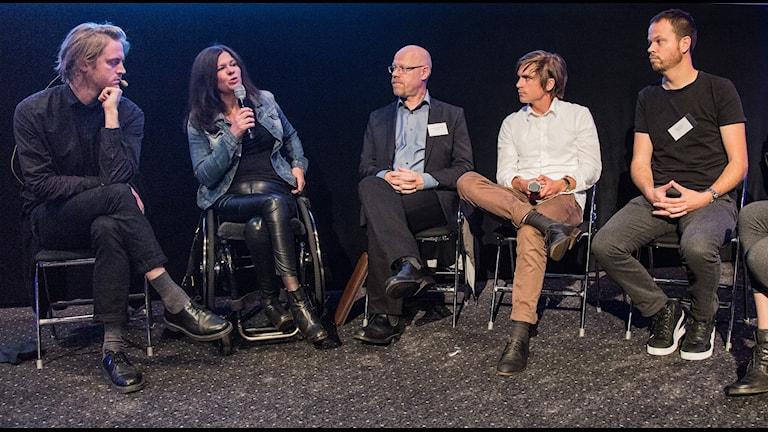 Hugo Lavett, Maria Trägårdh, Anders Johansson, Martin Johnson och Anton Berg FOTO: Micke Grönberg/SR