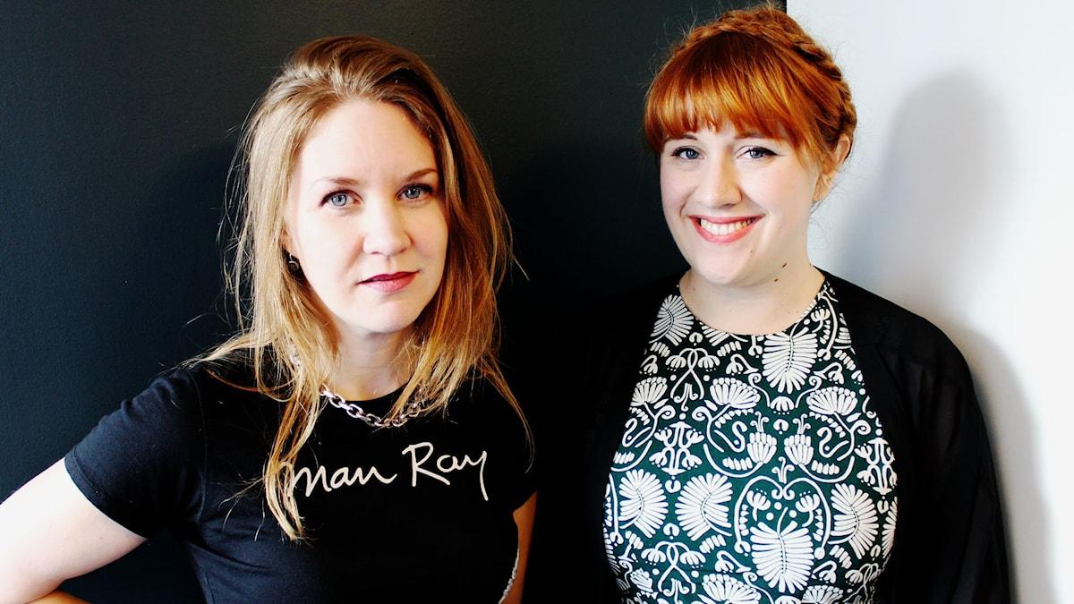 Cecilia Djurberg och Émelie Vangen Lindgren rapporterar från årets upplagor av MEG och Gräv. FOTO: Christian Gillinger/Sveriges Radio