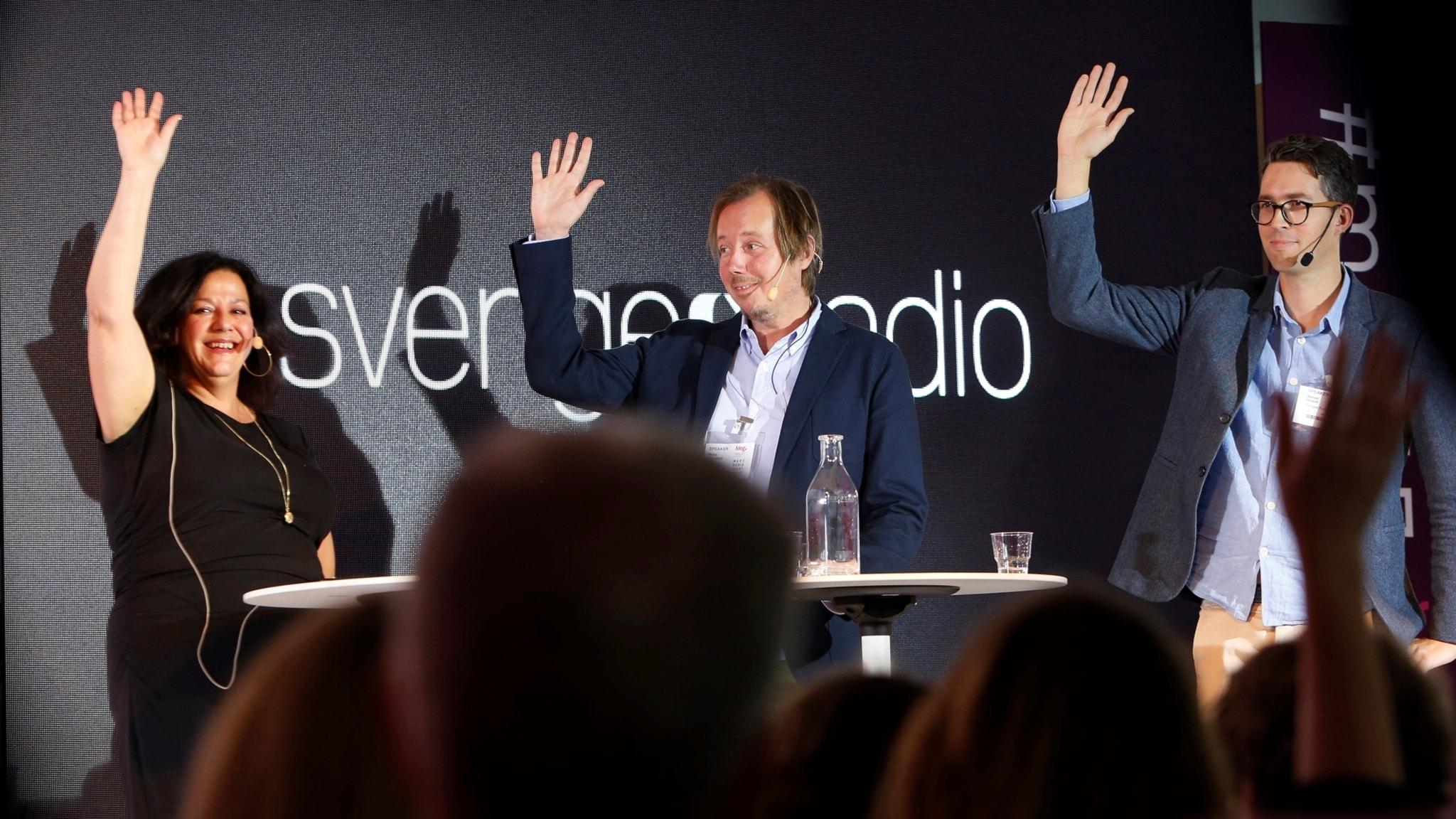 Pia Kalischer (moderator), Måns Ulvestam och Simon Gooch