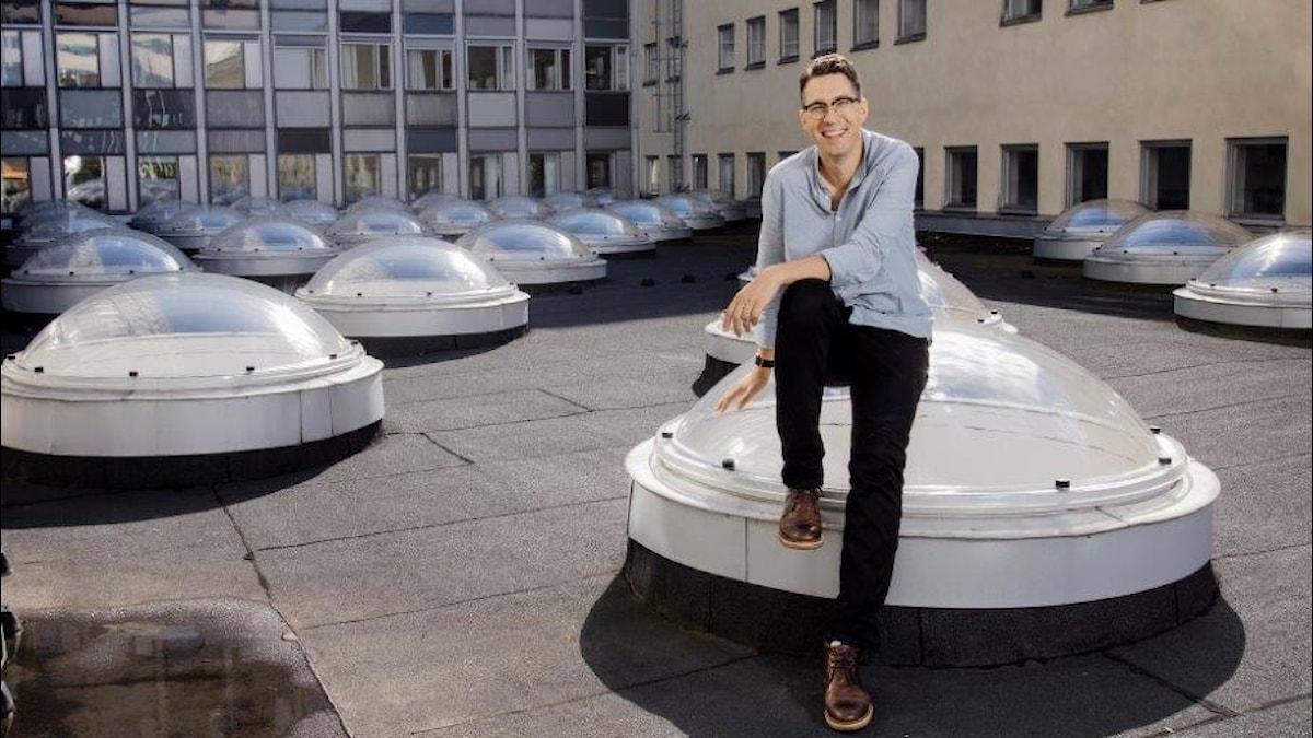 Simon Gooch är innovationsdirektör på Sveriges Radio.