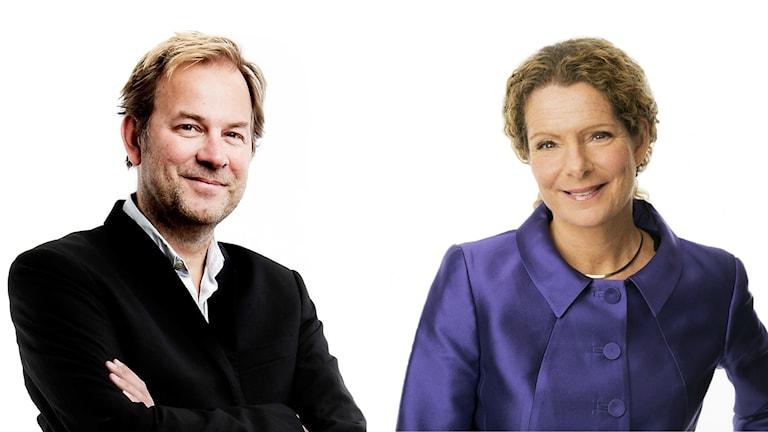 Stefan Eklund, chefredaktör Borås Tidning och Cilla Benkö, vd Sveriges Radio