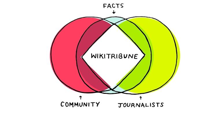 Det nya projektet Wikitribune har en vision att lösa problemen med dåligt granskade nyheter genom crowsourcing där professionella journalister samarbetar med ett community. Grundaren är Jimmy Wales, som startade Wikipedia.