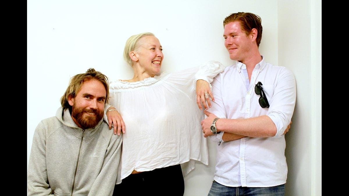 Fredrik, Emmi och André om sex på flera... Foto: Amal Aziz/SR