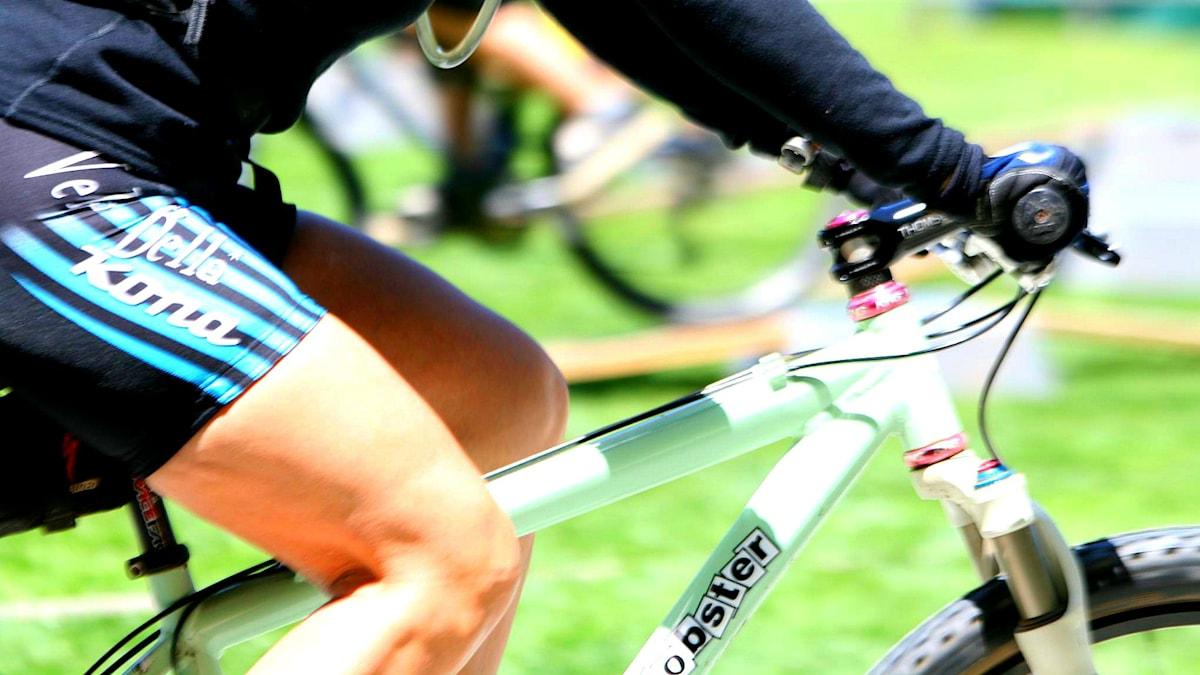 Lår på cykel. foto: Richard Masoner / Cyclelicious/fCC BY-SA 2.0lickr/