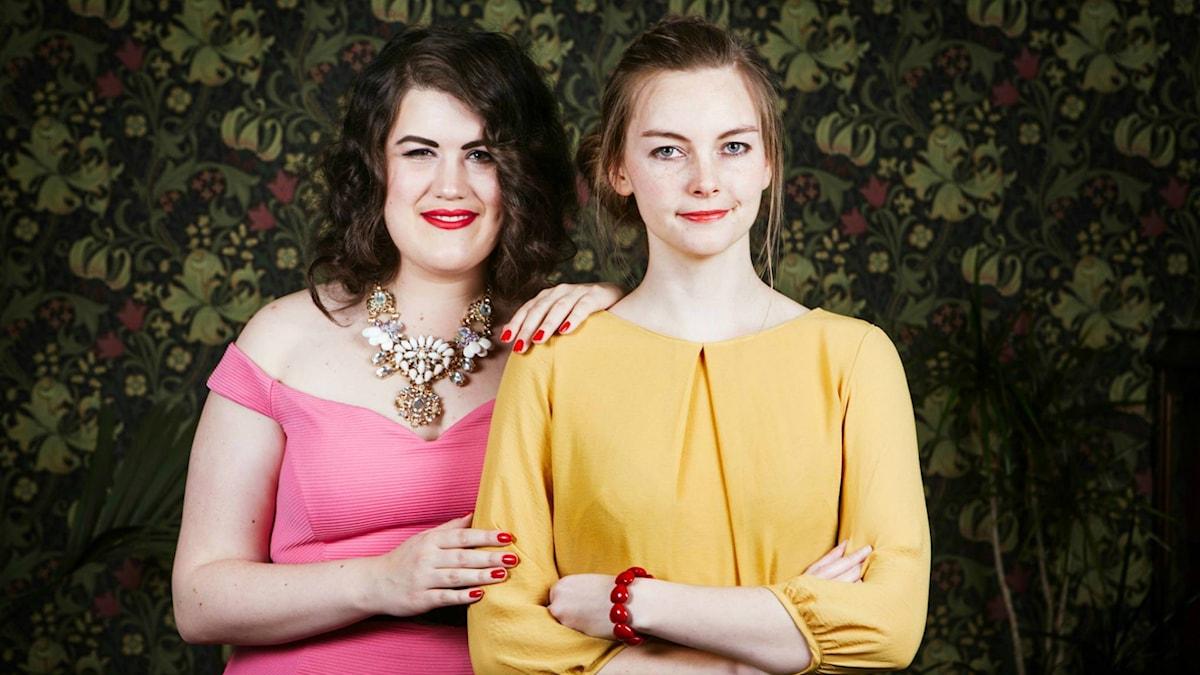 Maria Maunsbach och Camilla Larsson. Foto: Julia Lindemalm/Sveriges Radio