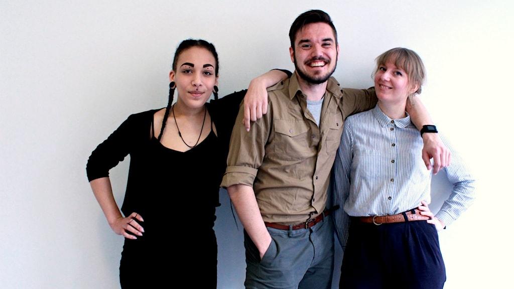 Aïcha Coulibaly, Niklas Sobieski och Olivia Whitehouse.