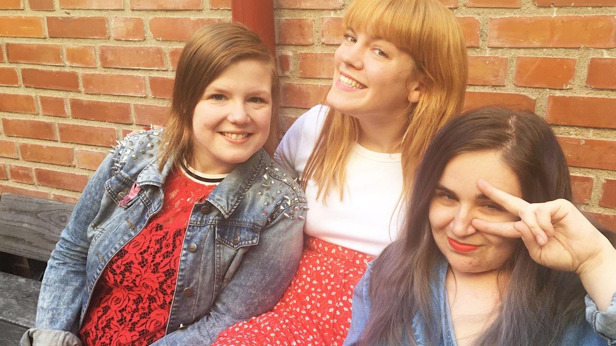 Ida, Filippa och Lisa.
