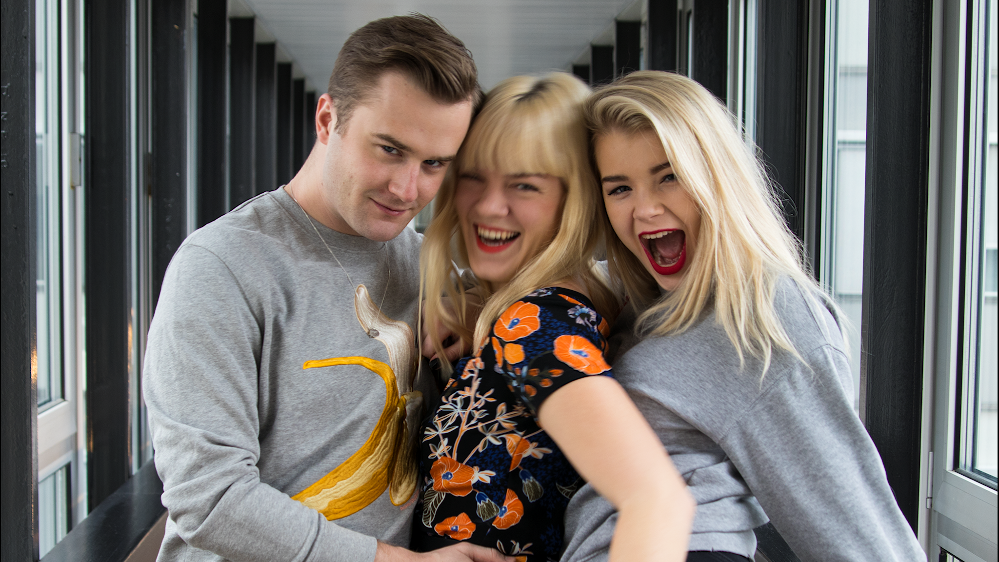 Gustav, Filippa och Kristina.