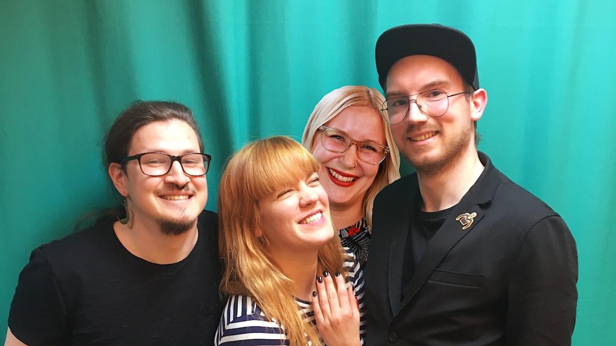 Joel, Filippa, Hanna och Emil.