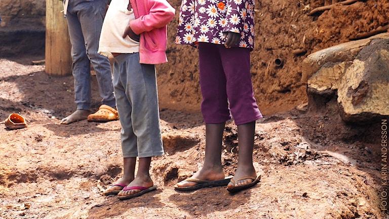 Flickorna i Nairobis slum