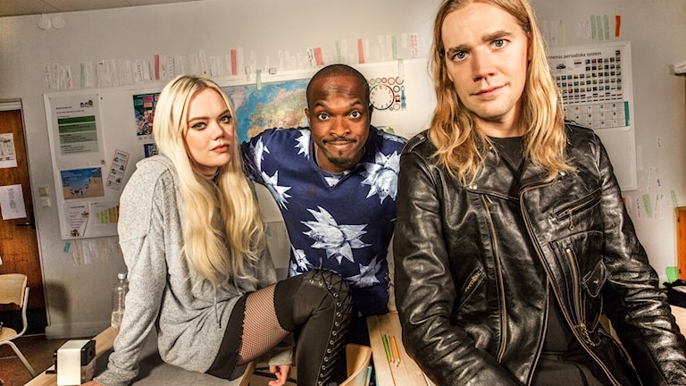 Josefine Jinder, Pelle Almqvist och Kodjo Akolor. Foto: Jan Danielsson/SVT
