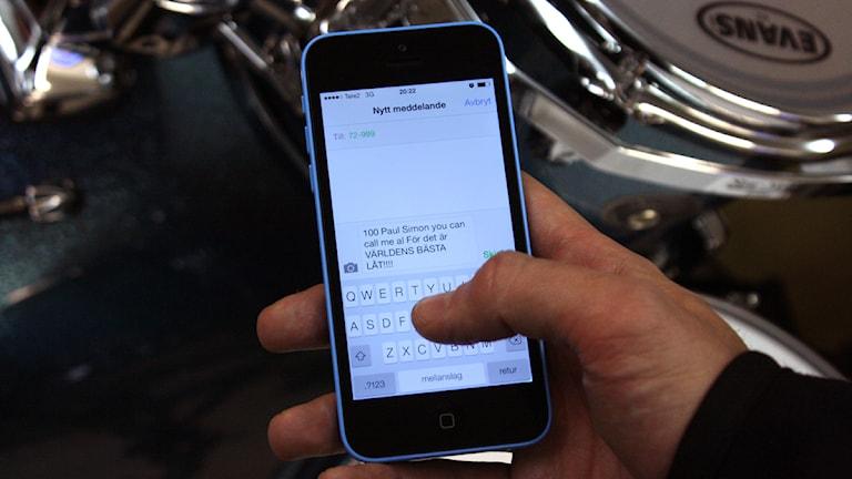 Ett typiskt SMS. Foto: Sofia Ohlsson Djerf
