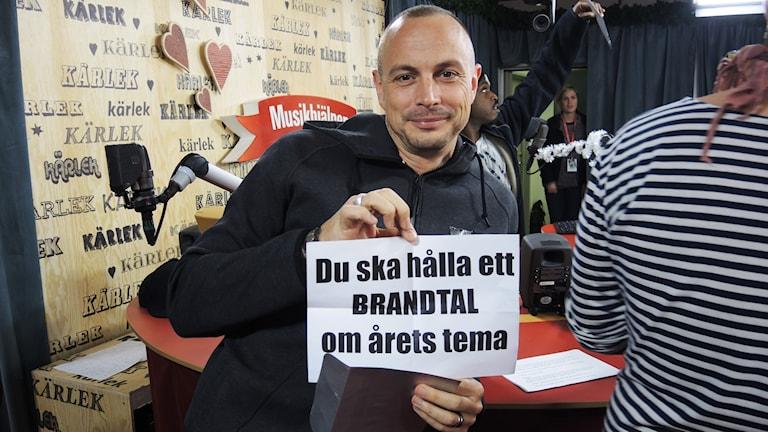 Petters uppdrag i MH14. Foto: Kasper Nowakowski/Sveriges Radio.
