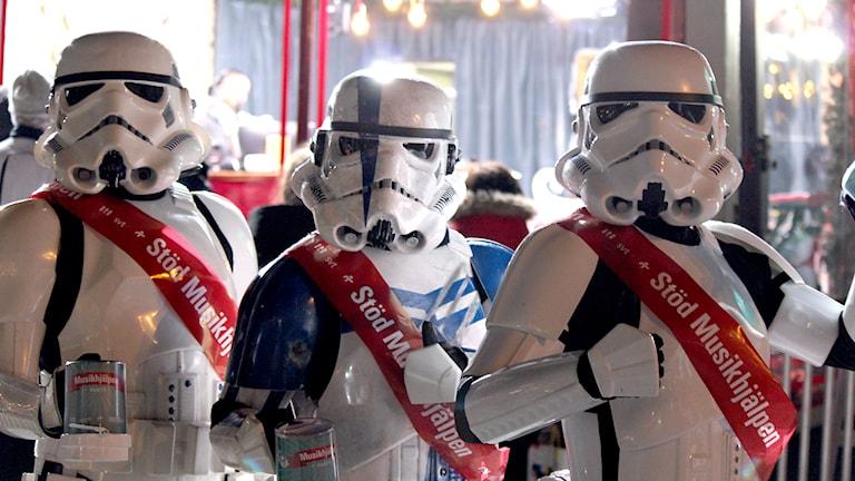 Stormtroopers utanför buren. Foto: Eric Tapper/Sveriges Radio