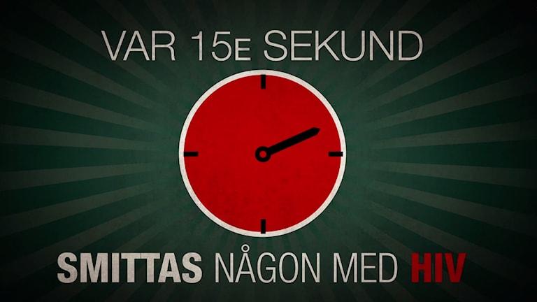 Var femtonde sekund smittas någon med hiv
