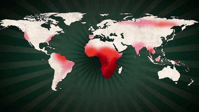 Världskartan Musikhjälpen 2014