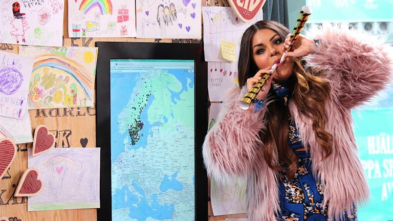 Arantxa Alvarez berättar att Musikhjälpen 2014 slagit rekord i antal initiativ