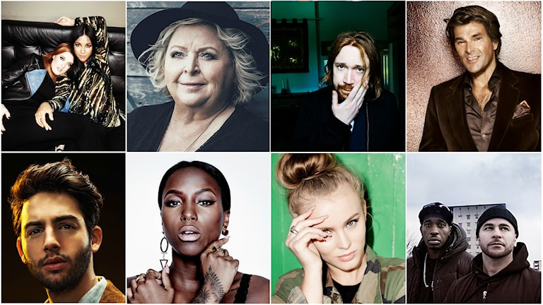 Icona Pop, Kikki Danielsson, Lars Winnerbäck, Niklas Strömstedt, Darin, Sabina Ddumba, Zara Larsson och Ison & Fille