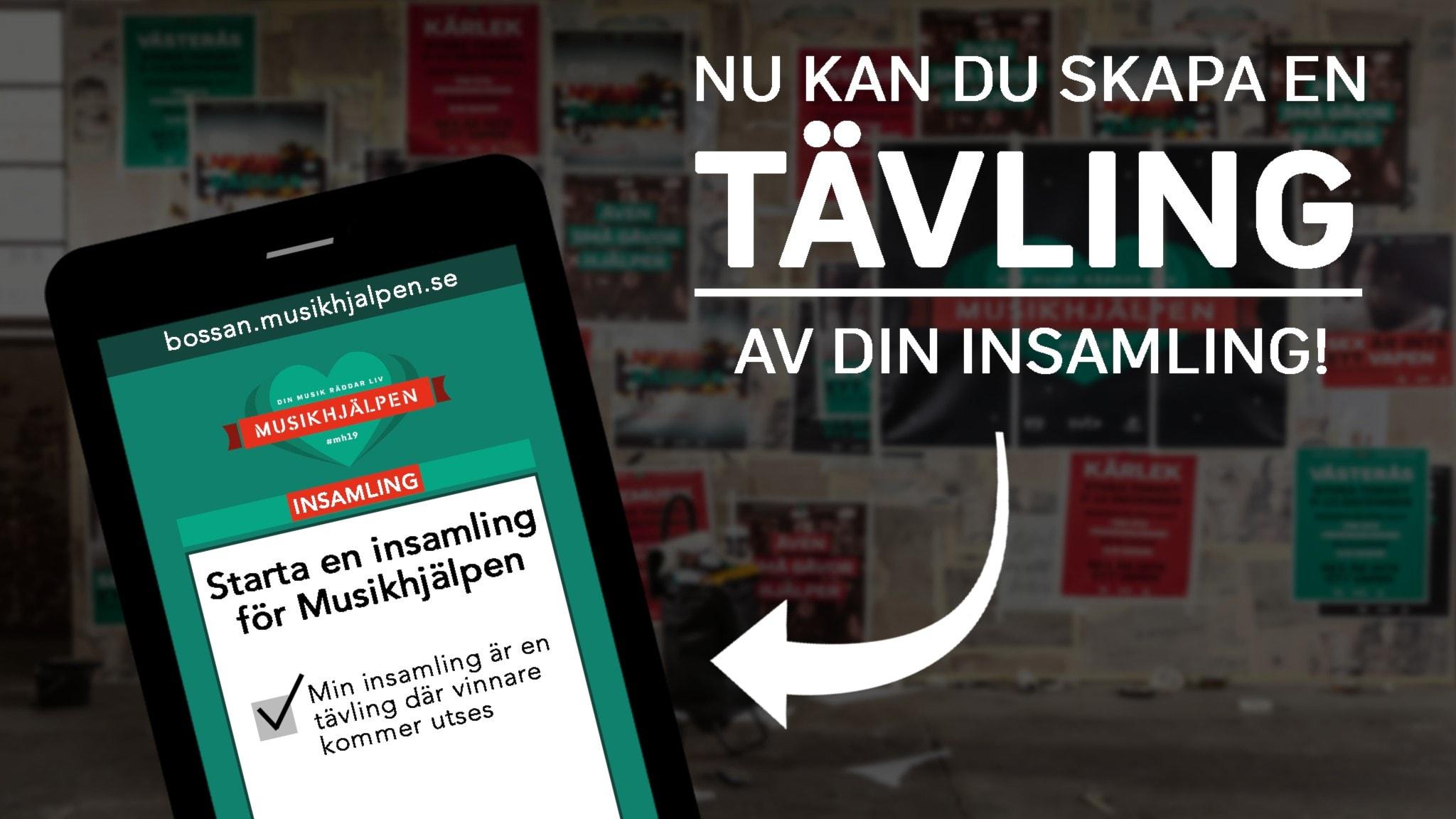 Äntligen kan du skapa en tävling! Musikhjälpen | Sveriges