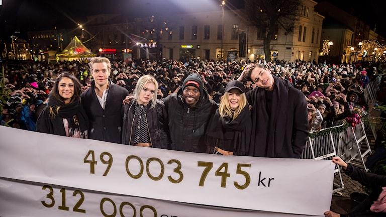 Musikhjälpen 2016 #mh16 Farah Abadi , Pelle Almqvist, Josefine Jinder, Kodjo Akolor, Molly Nutley och Oscar Zia avslutar Musikhjälpen 2016