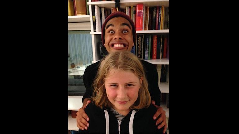 William Spetz och Alva Nordström. Foto: Matilda Kihlberg/Sveriges Radio