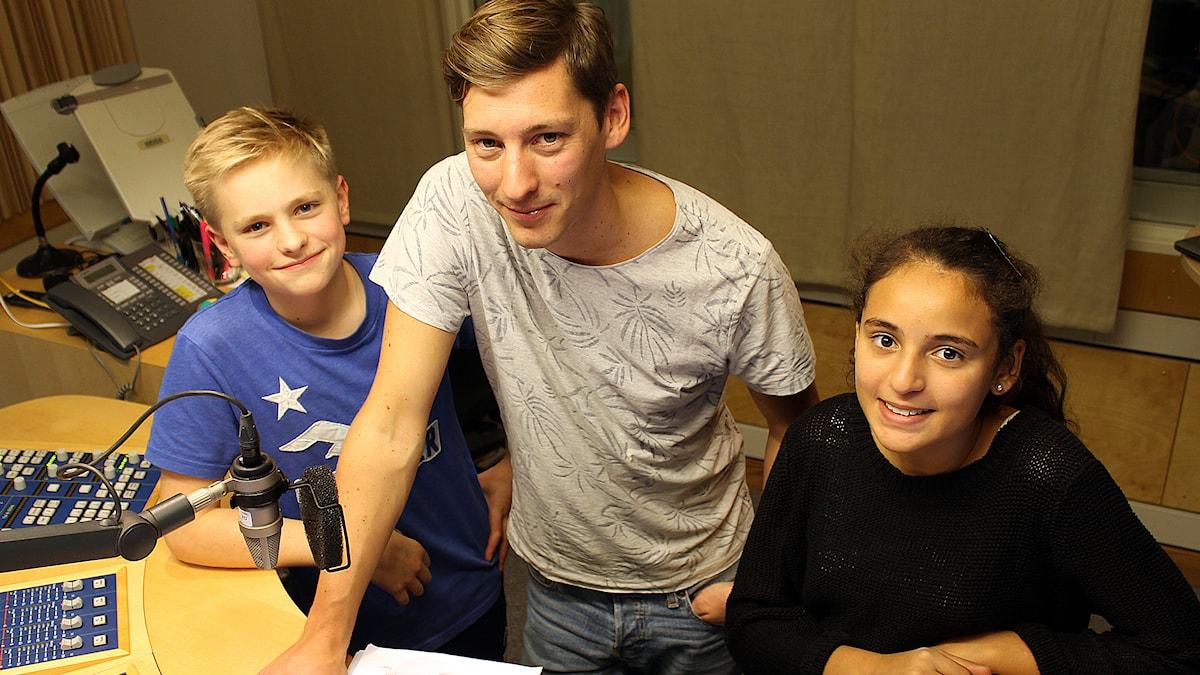 Albin, Kim och Mariem. Foto: Niclas Albertsson/Sveriges Radio